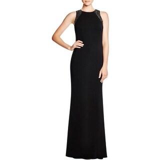 Carmen Marc Valvo Womens Evening Dress Paillette Detail Sleeveless