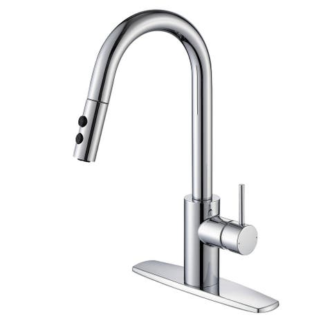 Ultra Faucets Euro Collection Single-Handle Kitchen Faucet With Pull-Down Spray