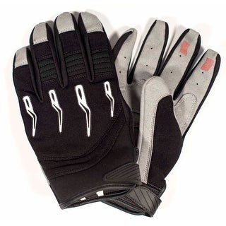 Race-Driven ATV MX Off Road Silicone Fingertip Riding Gloves - Black (More options available)