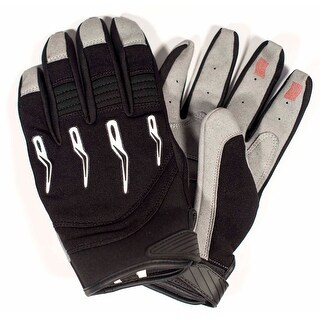 Race-Driven ATV MX Off Road Silicone Fingertip Riding Gloves - Black