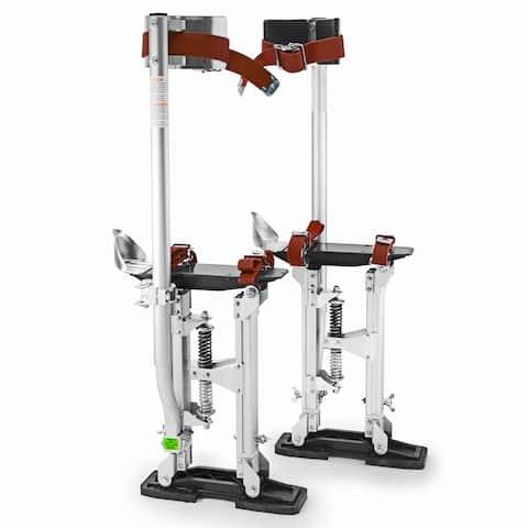 "GypTool Pro 18"" - 30"" Drywall Stilts - Silver - 18 - 30 inches"