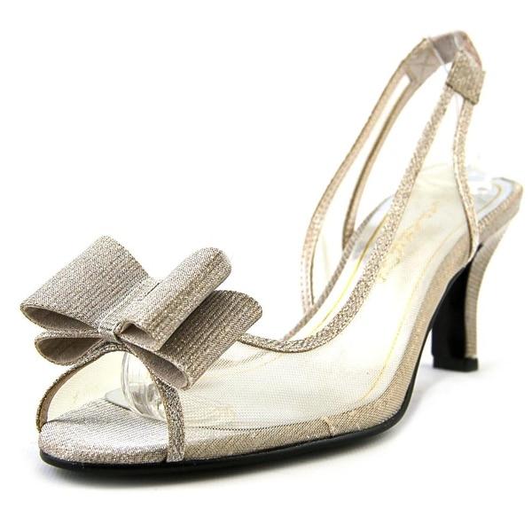Caparros Summer Women Peep-Toe Canvas Slingback Heel