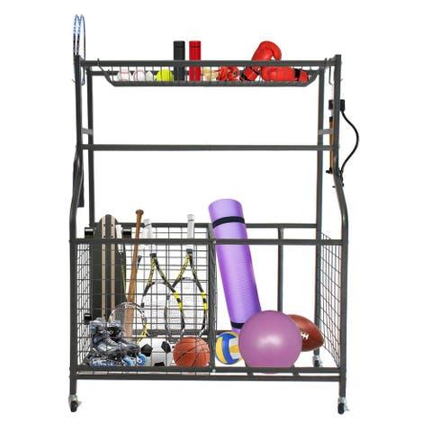 Garage Sports Equipment Organizer, Ball Storage Rack