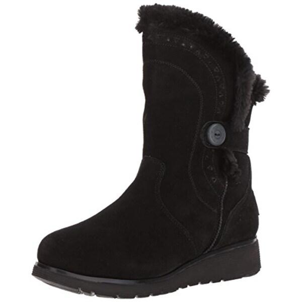 Skechers Women's Mid Apex Winter Boot,Black,5 M Us