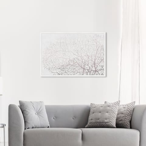 Oliver Gal 'Seatree Concrete' Nautical and Coastal Wall Art Framed Print Marine Life - Gray, White