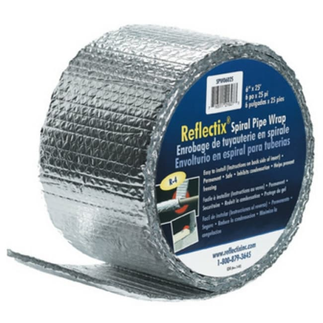 Reflectix SPW0602508 Spiral Pipe Wrap Insulation, R-2.0, 6 x 25