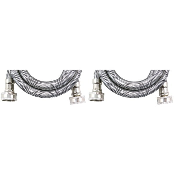 Certified Appliance Wm60Ss2Pk Braided Stainless Steel Washing Machine Hose, 2 Pk (5Ft)