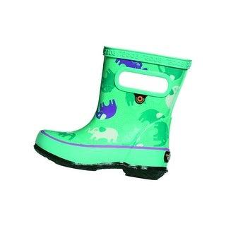 Bogs Outdoor Boots Girls Skipper Elephant Round Toe Waterproof