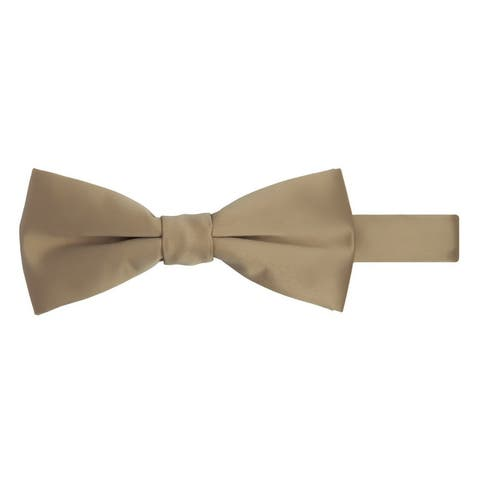 Jacob Alexander Men's Pretied Banded Adjustable Solid Color Bowtie - One Size