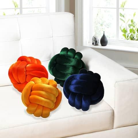 Austin Knot Braid Ball Accent Pillow