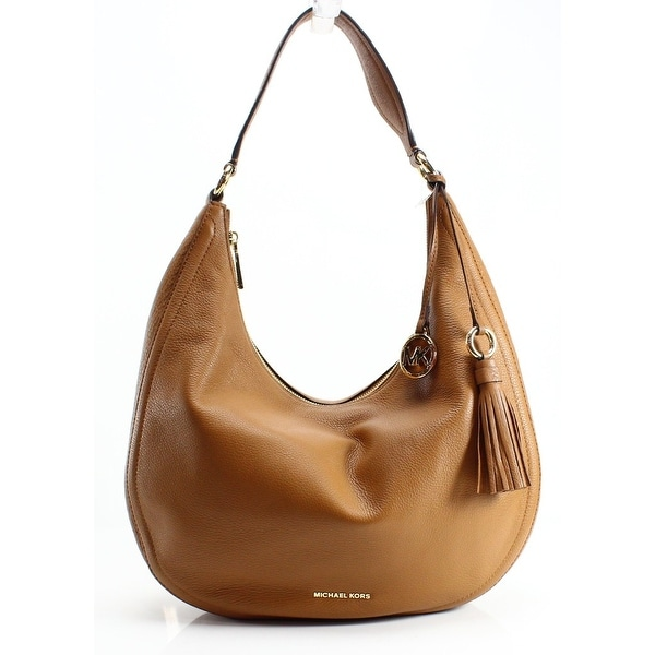 08a8f48f13db Shop Michael Kors NEW Brown Pebble Leather Lydia Hobo Shoulder Bag ...
