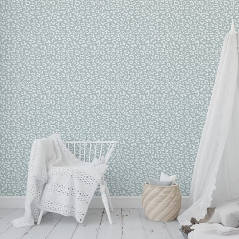 LEOPARD GREEN Peel and Stick Wallpaper By Kavka Designs - 2' x 16'