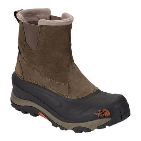 The North Face Men's Chilkat III Pull-On Snow Boot Mudpack Brown/Bombay Orange