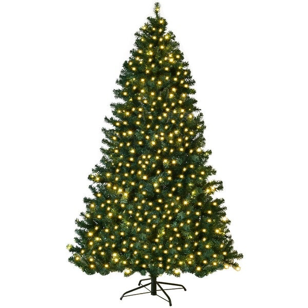 Shop 7 5 Pvc Artificial Christmas Tree W Led Lights