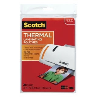 Scotch Thermal Laminating Pouch, 5 x 7 Inches, 5 mil Thickness, Pack of 20