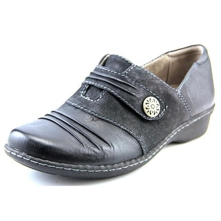 Naturalizer Response Women WW Round Toe Leather Black Loafer