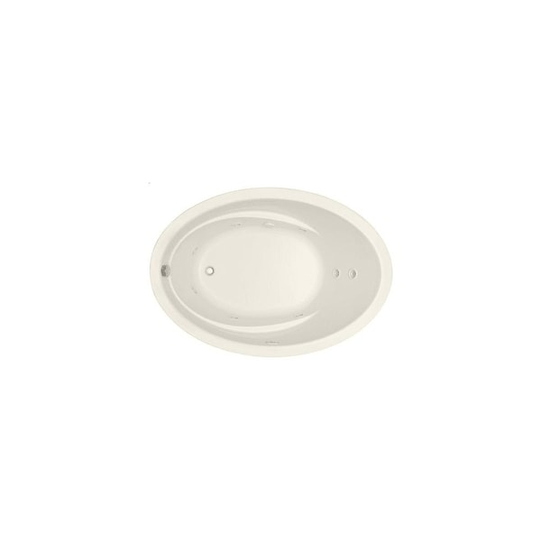 "Mirabelle MIRGAW6042V Galatia 60"" X 42"" Drop-In Whirlpool Tub with Reversible Drain"