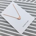 Honeycat Small Heart Charm Necklace (Delicate Jewelry) - Thumbnail 7