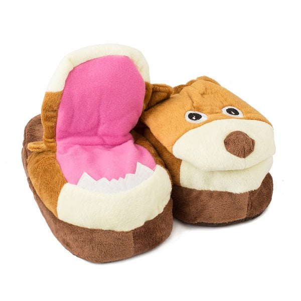 Brown Bear Crazy Slippers, Size S