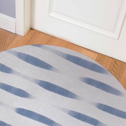UNA BLUE Indoor Floor Mat By Kavka Designs