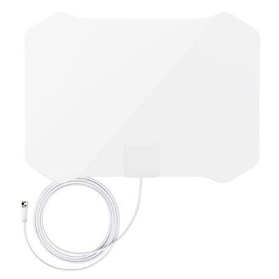 Antop Paper Thin At-133 High Gain Indoor Tv Antenna With Table Stand - 35 Mile Long Range 360 Degree Reception For Ota H