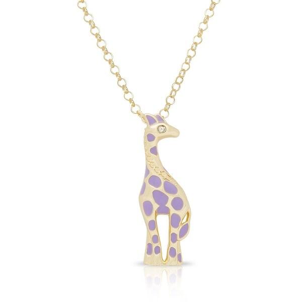 Lily Nily Girl's Giraffe Pendant - Purple