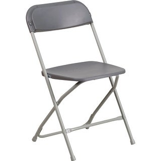Rivera Heavy Duty Plastic Folding Chair, Grey