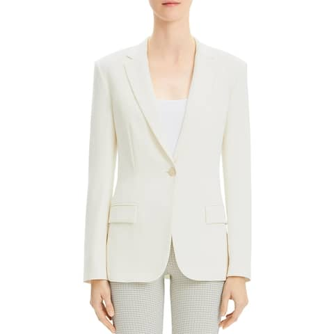 Theory Womens Staple One-Button Blazer Suit Separate Business - Rice