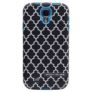 Body Glove Splash Case for Samsung Galaxy S4 (Cyan and Black Lattice)