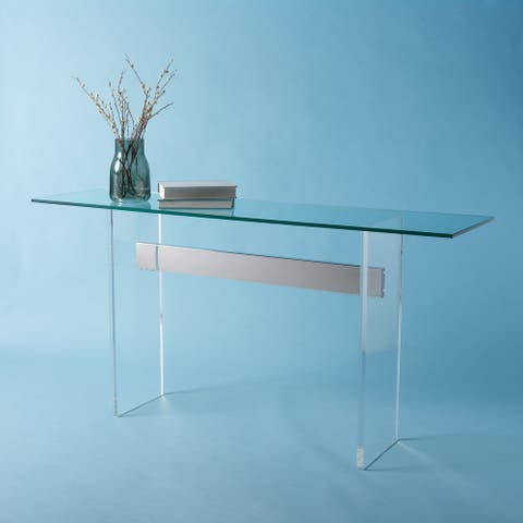"""SAFAVIEH Couture Charlise Acrylic Console Table - 65"""" W x 17"""" L x 32"""" H"""