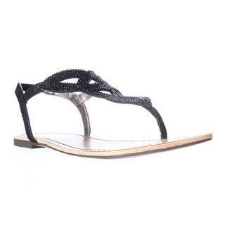 MG35 Swirlz Sparkle Flat Sandals - Black
