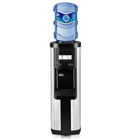 Costway Top Loading Stainless Steel Water Cooler Dispenser Cold Hot 5