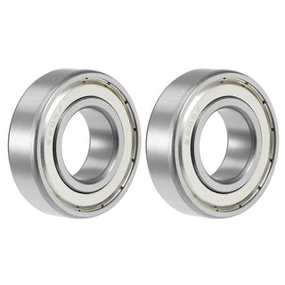 6205ZZ Deep Groove Ball Bearing 25x52x15mm Double Shielded Chrome Bearings 2pcs - 2 Pack - 6205ZZ (25*52*15)