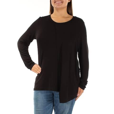 KUT Womens Black Long Sleeve Jewel Neck Top Size: XS