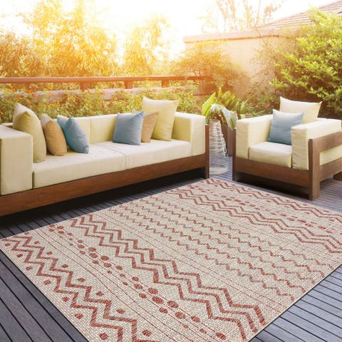 LR Home Sunshower Collective Adornment Indoor/Outdoor Rug