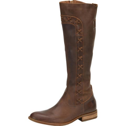 Born Womens Albi Riding Boots Leather Knee-High - Brown