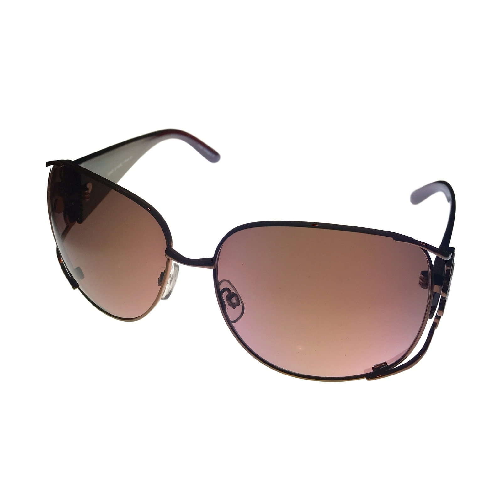 Esprit Womens Sunglass 19282 535 Copper Modified Rectangle, Brown Gradient Lens - Thumbnail 0