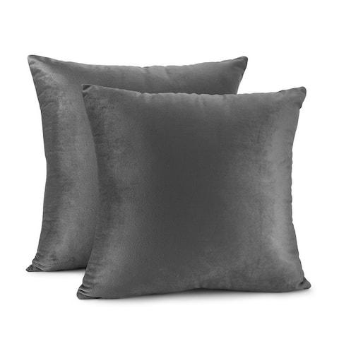 Porch & Den Cosner Microfiber Velvet Throw Pillow Covers (Set of 2)