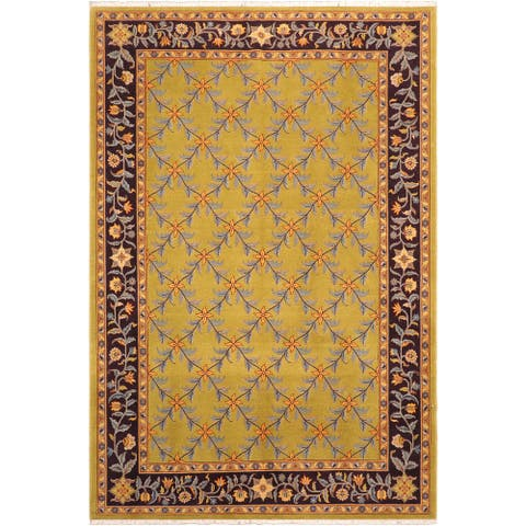 """Bohemien Ziegler Moira Hand Knotted Area Rug -6'2"""" x 9'2"""" - 6 ft. 2 in. X 9 ft. 2 in."""