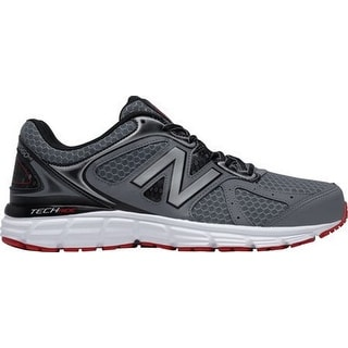 New Balance Mens Running Shoe, Grey/Black/Red