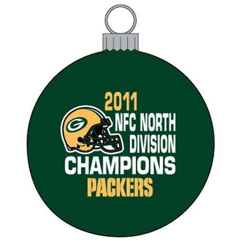 Green Bay Packers 2011 NFC North Division Champions Green Ornament