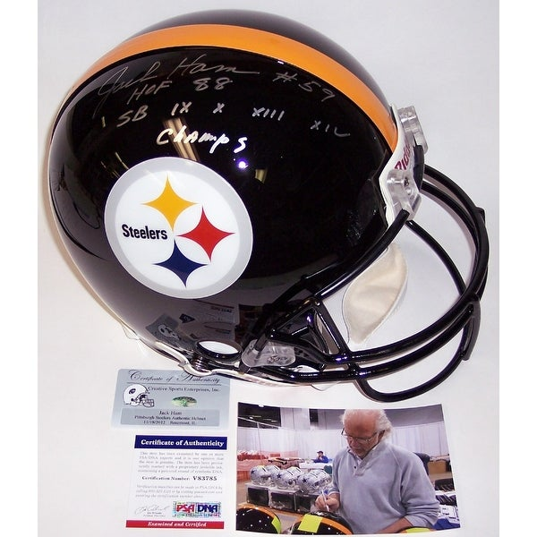 5690fe238 Shop Jack Ham Autographed Hand Signed Pittsburgh Steelers Authentic Helmet  - PSA DNA - Free Shipping Today - Overstock - 12784940