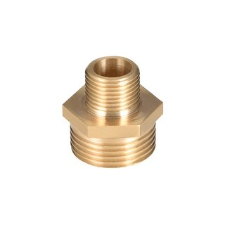"""Brass Pipe Fitting Reducing Hex Nipple 3/8""""x 3/4"""" G Male Pipe Brass Fitting - 3/8"""" to 3/4"""" G Male"""