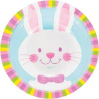 Pack of 12 White and Pink Easter Bunny Printed Decorative Bowl 6.5""