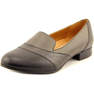 Naturalizer Coretta Women W Round Toe Leather Gray Loafer