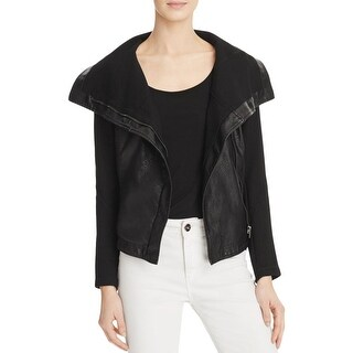 Blank NYC Womens Jacket Faux Leather Long Sleeves (2 options available)
