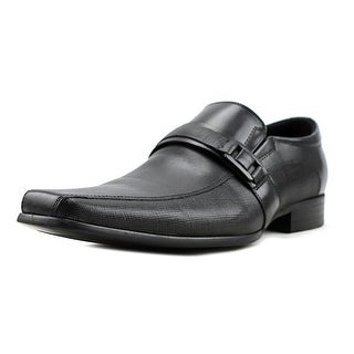 Kenneth Cole NY Lock N Key Men  Bicycle Toe Leather Black Oxford