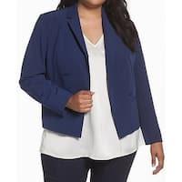 Sejour NORDSTROM Blue Womens Size 16W Plus Open Front Jacket