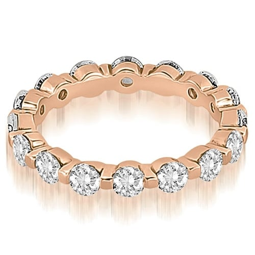 2.40 cttw. 14K Rose Gold Round Diamond Eternity Ring