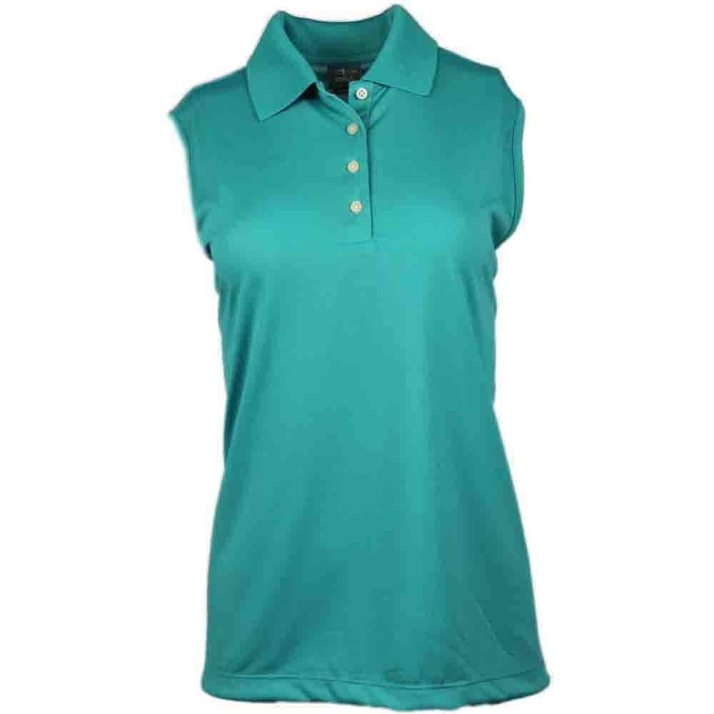 Page & Tuttle Womens Sleeveless Solid Jersey Golf Casual Polo